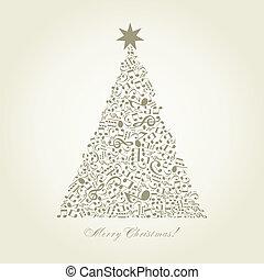 árvore, musical, natal