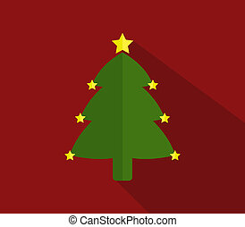 árvore, natal, ícone