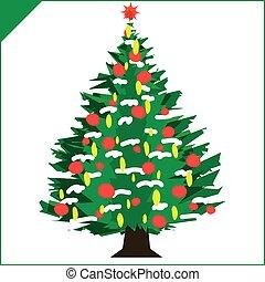 árvore, natal, ano, fundo, feliz, multa, novo, holyday