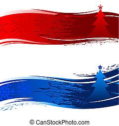 árvore natal, bandeira
