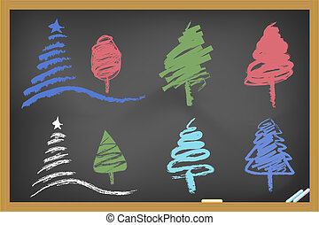 árvore natal, blackboa, desenho
