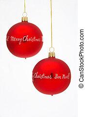 árvore natal, bolas, -, weihnachtskugeln