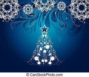 árvore, natal, brilhar