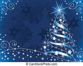 árvore, natal, cintilante