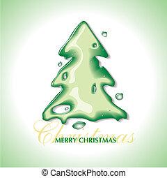 árvore natal, com, um, água, efeito
