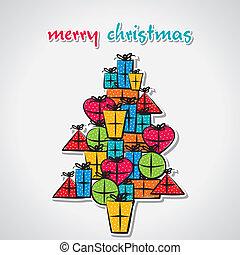 árvore, natal, criativo