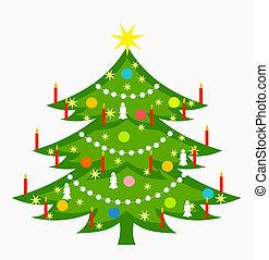árvore natal, decorado