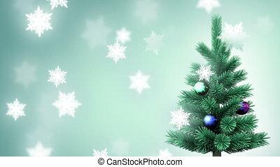 árvore natal, e, snowflakes