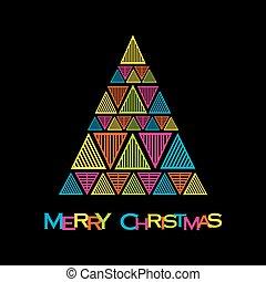 árvore, natal, feliz, criativo