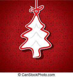 árvore, natal, feliz, etiqueta