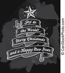 árvore, natal, fita