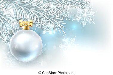 árvore, natal, fundo, bauble