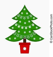 árvore, natal, ilustração