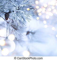 árvore natal, luz