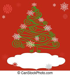 árvore, natal, openwork