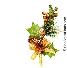 árvore natal, ramo, ornamento