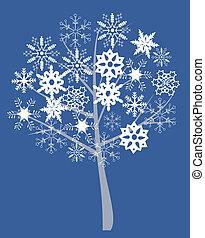 árvore, neve
