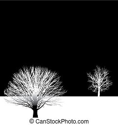 árvore nua, fundo