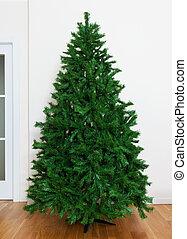 árvore nua, natal, artificial