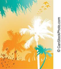 árvore palma, fundo