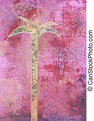 árvore palma, quadro