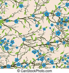 árvore, pattern., seamless