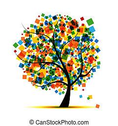 árvore, projeto abstrato, seu