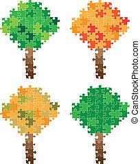 árvore, quebra-cabeça
