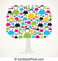 árvore, rede, medial, social