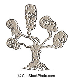 árvore, rosto