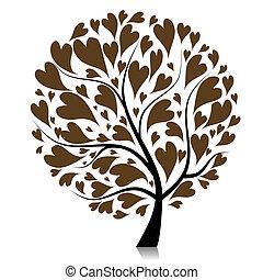 árvore, seu, arte, desenho, bonito