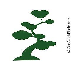 árvore, silueta, vetorial