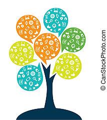 árvore, tecnologia, entretenimento
