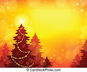 árvore, tema, silueta, natal, 8
