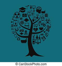 árvore, um, ciência