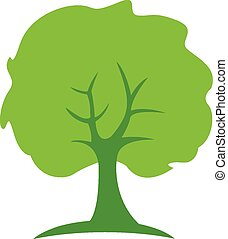 árvore verde, logotipo