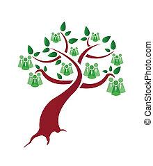 árvore verde, pessoas