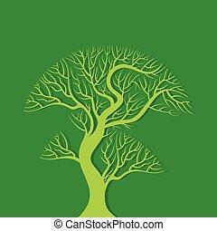 árvore verde, vetorial