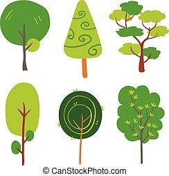 árvore, vetorial, desenho, cobrança
