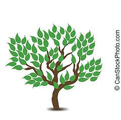árvore., vetorial, desenho, fundo