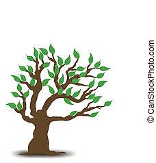 árvore., vetorial, desenho, ilustração
