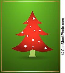 árvore, vetorial, desenho, natal