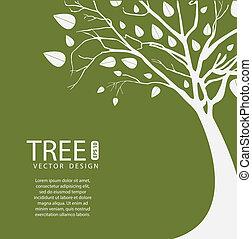 árvore, vetorial, desenho