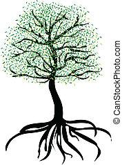 árvore, vetorial, gráfico