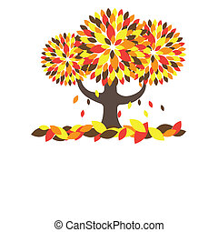 árvore., vetorial, ilustração