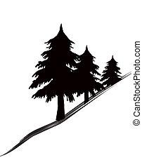 árvores, ícone