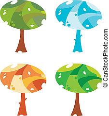 árvores, cute