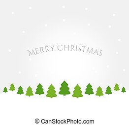 árvores inverno, fundo, paisagem, natal