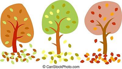 árvores outono