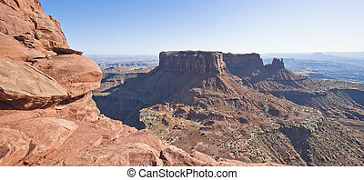 áspero, canyonlands, terreno